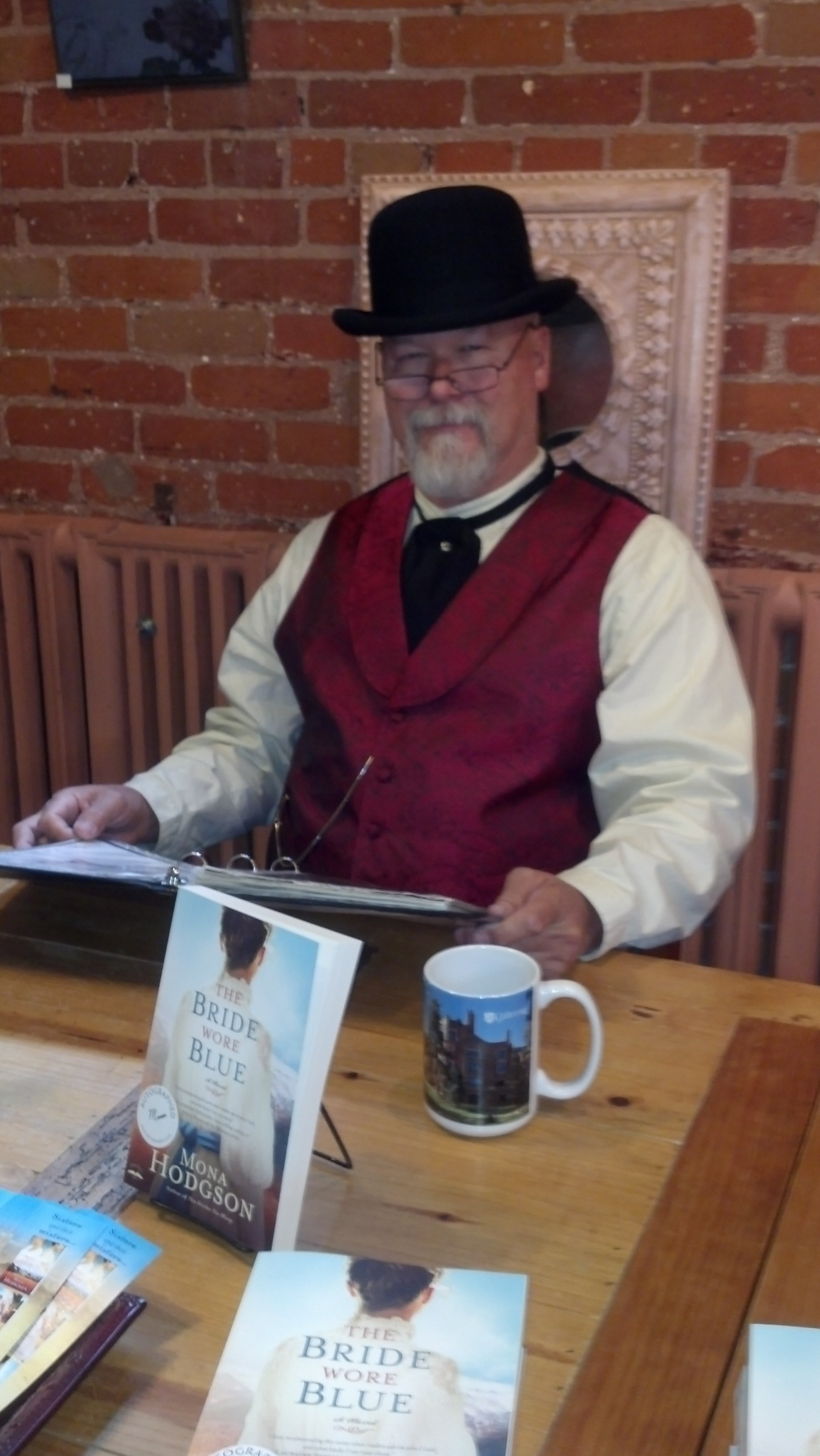 Bob looking dapper for a book signing at Glen Eyrie in Colorado Springs.