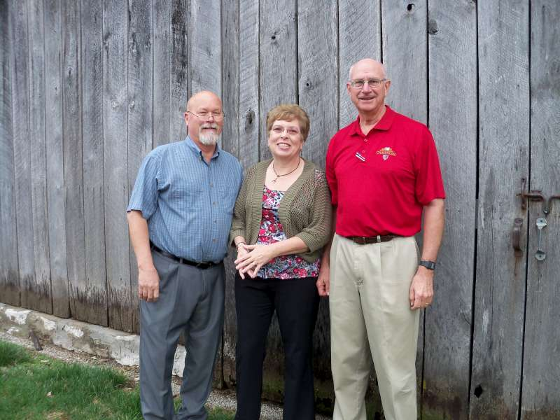 Bob and I with Bob Sandfort on the Sandfort Family Farm