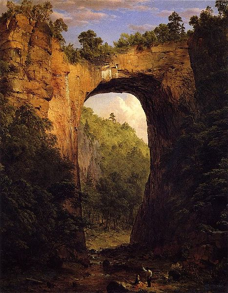 The Natural Bridge - Virginia (1852)
