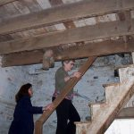 Mona and Carol Felzein touring a granary