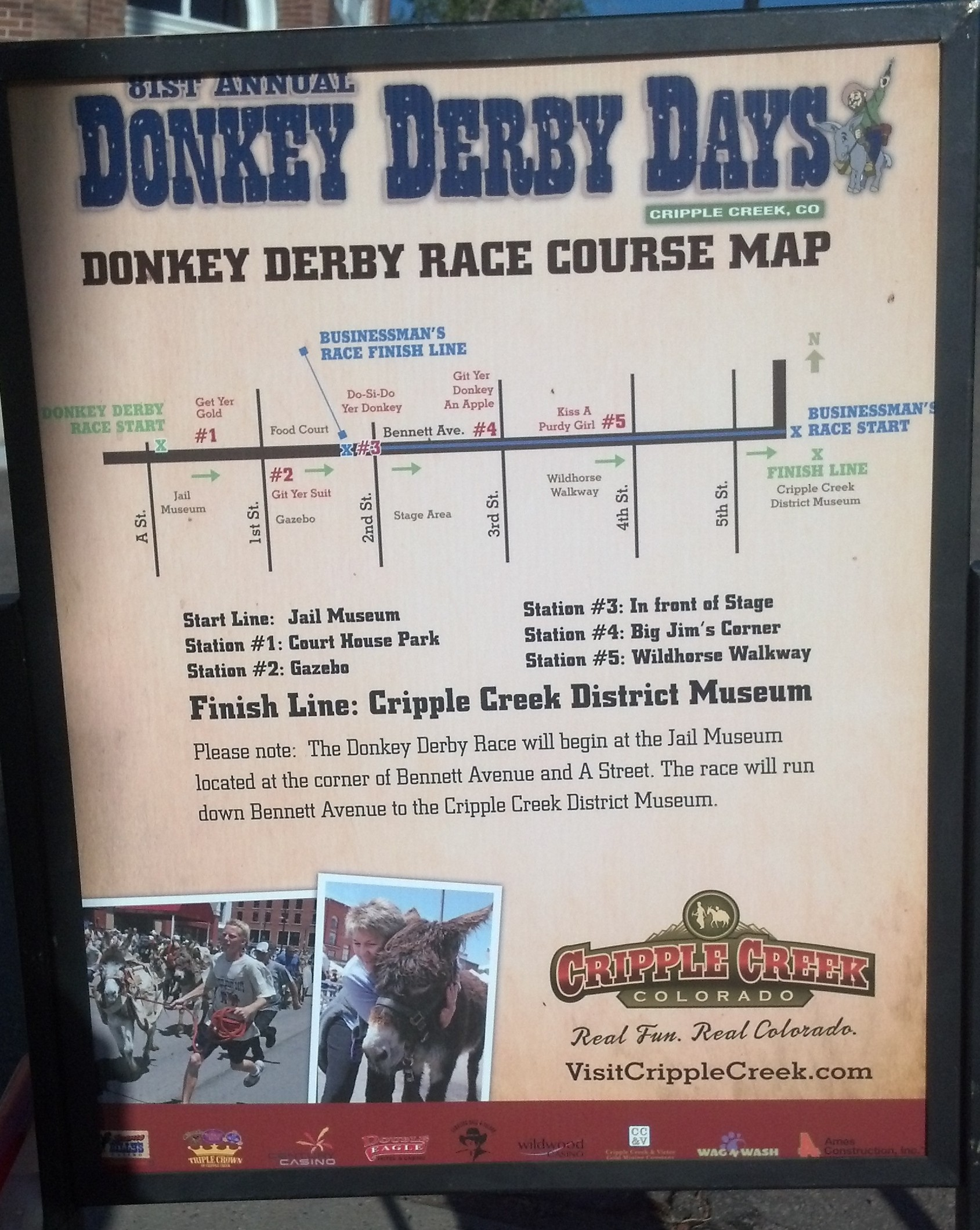 Donkey Derby Sign