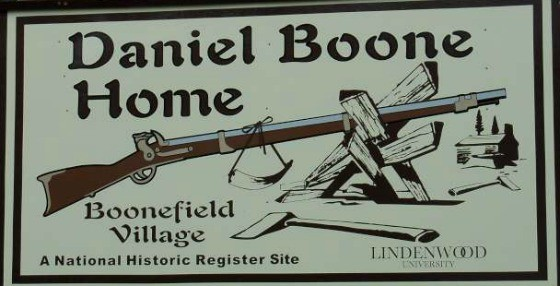 Daniel Boone Home Sign Small