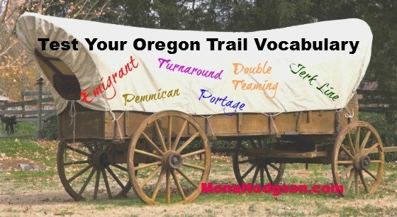 Oregon Trail Vocab Graphic