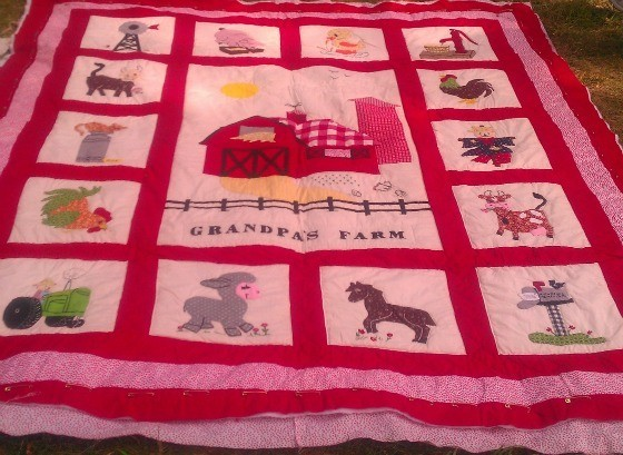 Grandpa's Farm Quilt, made by Ruth Fisher (Kell)