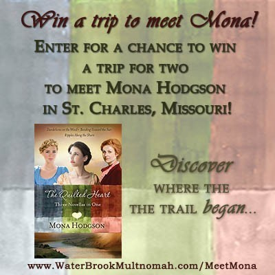 Enter to win a trip to St. Charles, the setting for The Quilted Heart