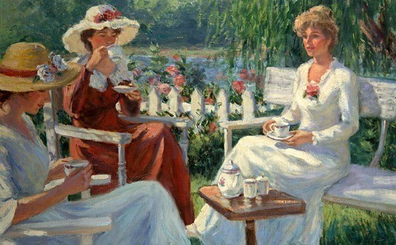Tea Time Gregory Frank Harris cropped