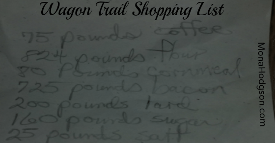wagon shopping list 4