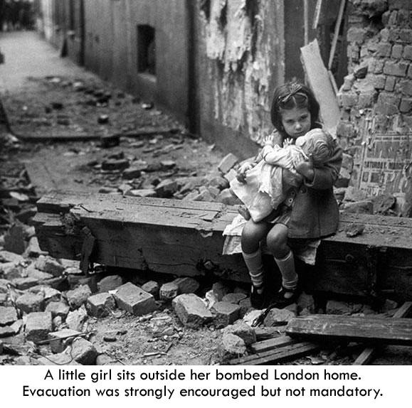 Little girl 1940 London2a
